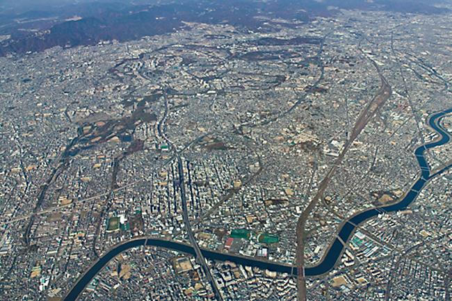 吹田市航空写真