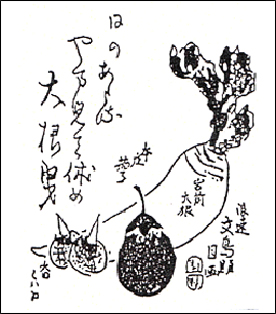 「五畿内産物図会」第1巻挿絵(大阪春秋第111号おおさかの伝統野菜より)