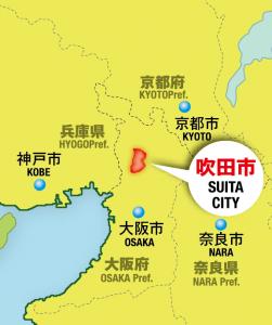 吹田市の位置